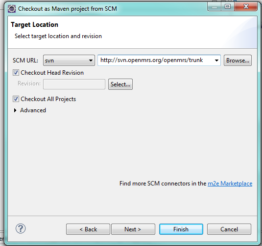 Installation of maven plugin into eclipse.