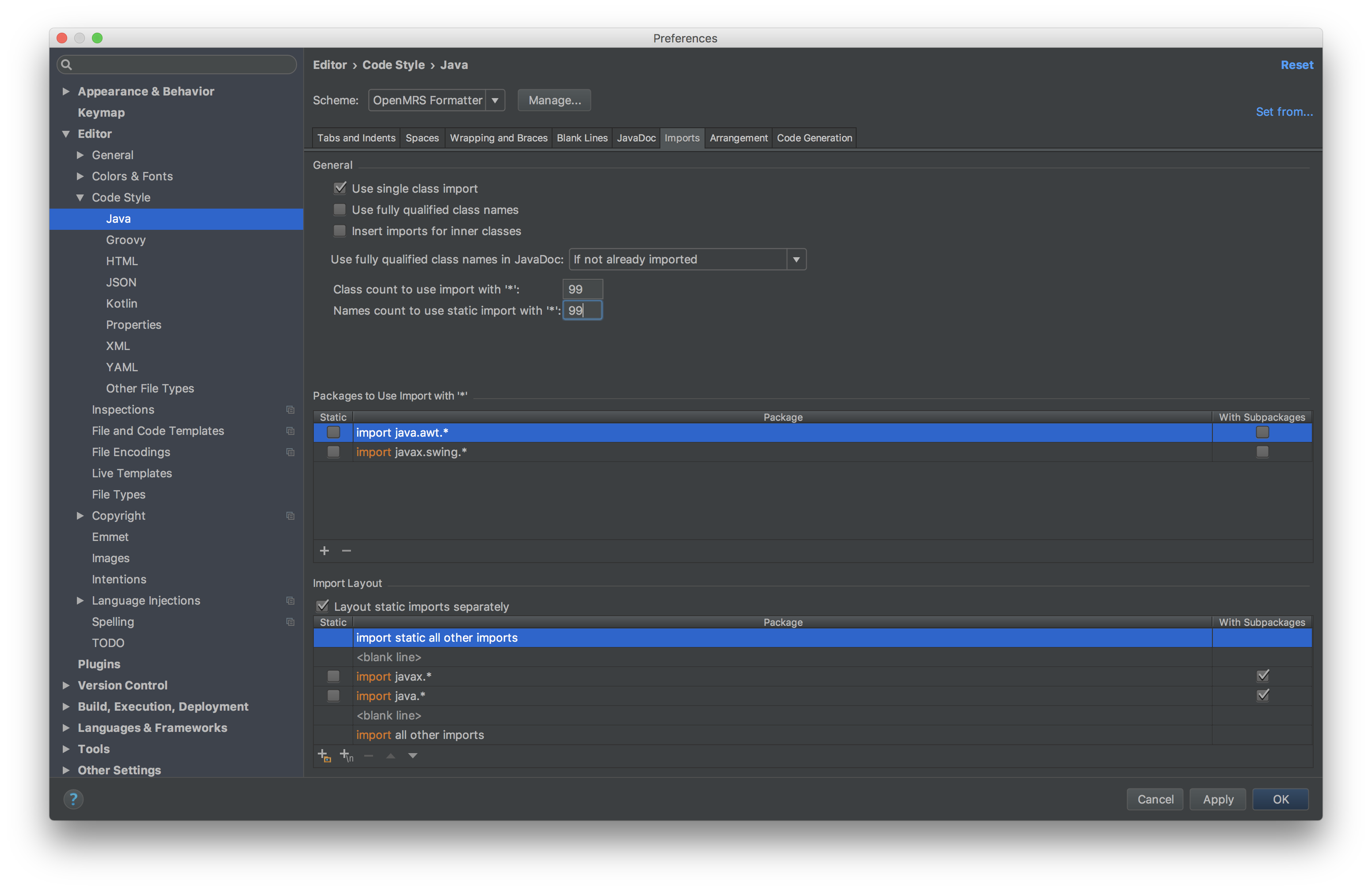 Developer How-To Setup And Use IntelliJ - Documentation