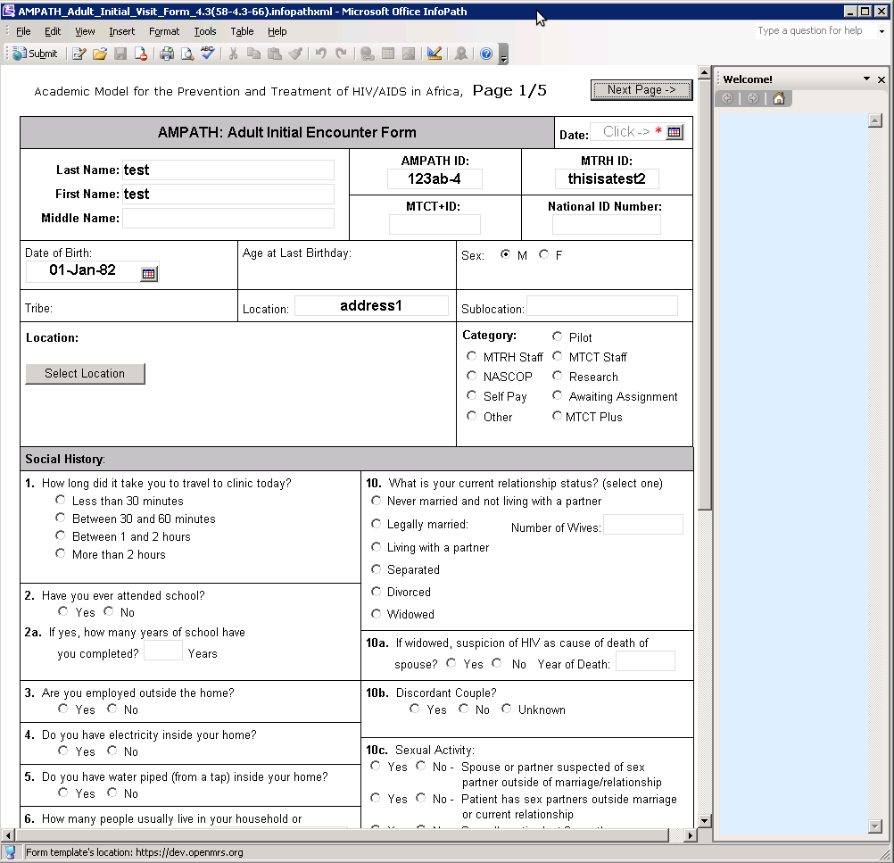 Sample infopath forms documentation openmrs wiki for Microsoft infopath form templates