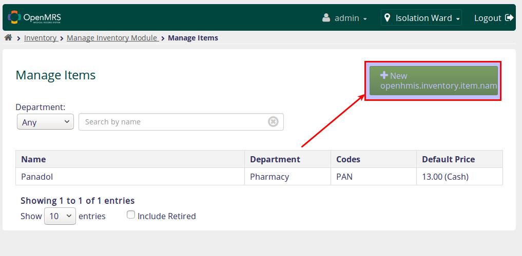 OpenHMIS Inventory Module - Documentation - OpenMRS Wiki