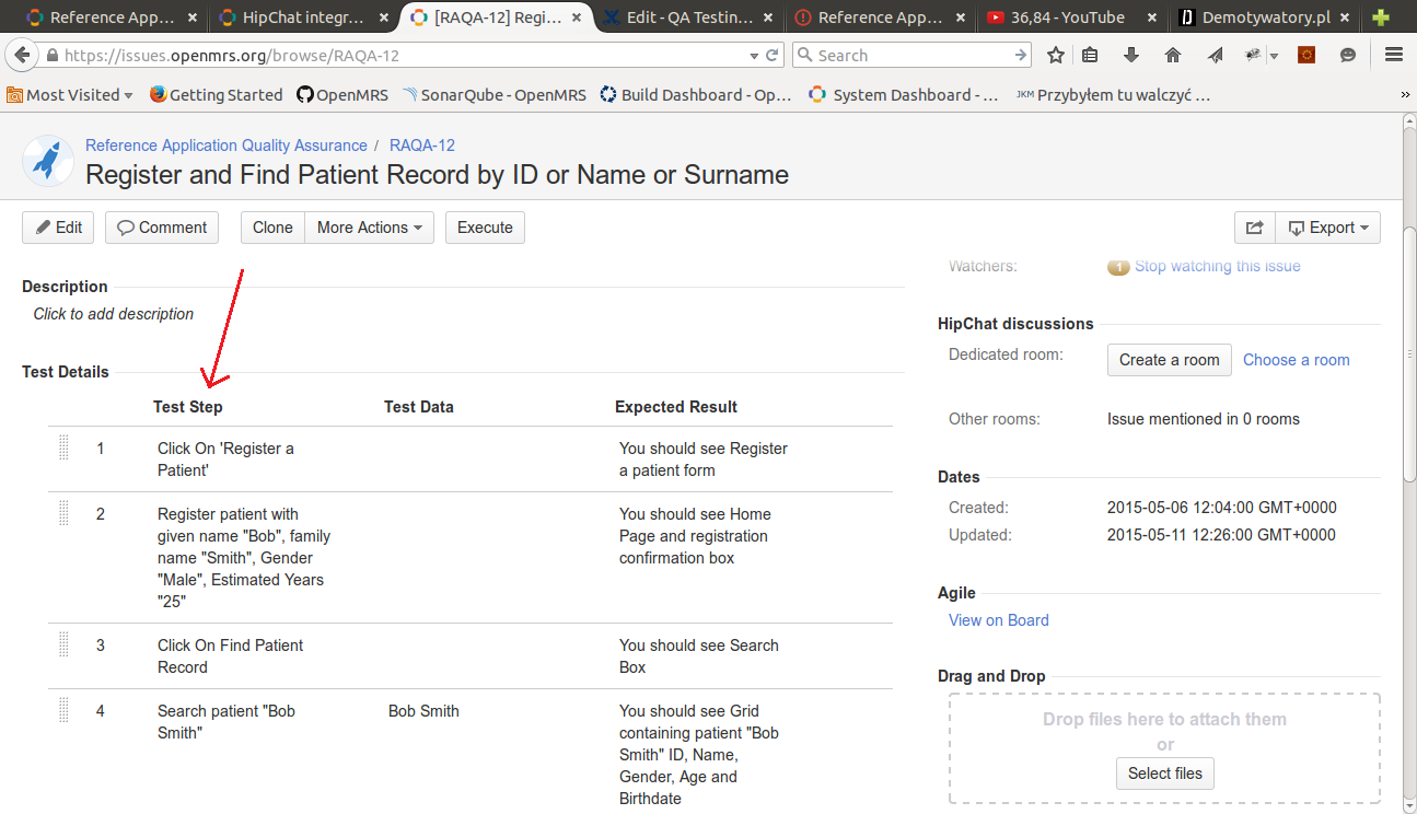 Make A Test >> How To Create A Test Case Documentation Openmrs Wiki