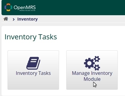 Manage Inventory Module